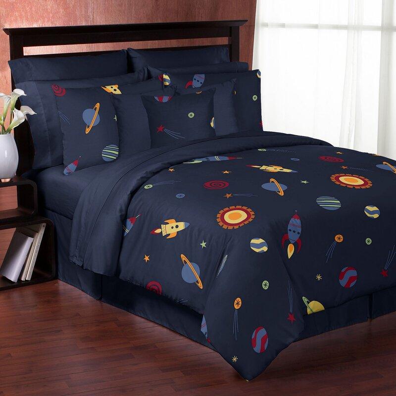 Delightful Space Galaxy Comforter Set