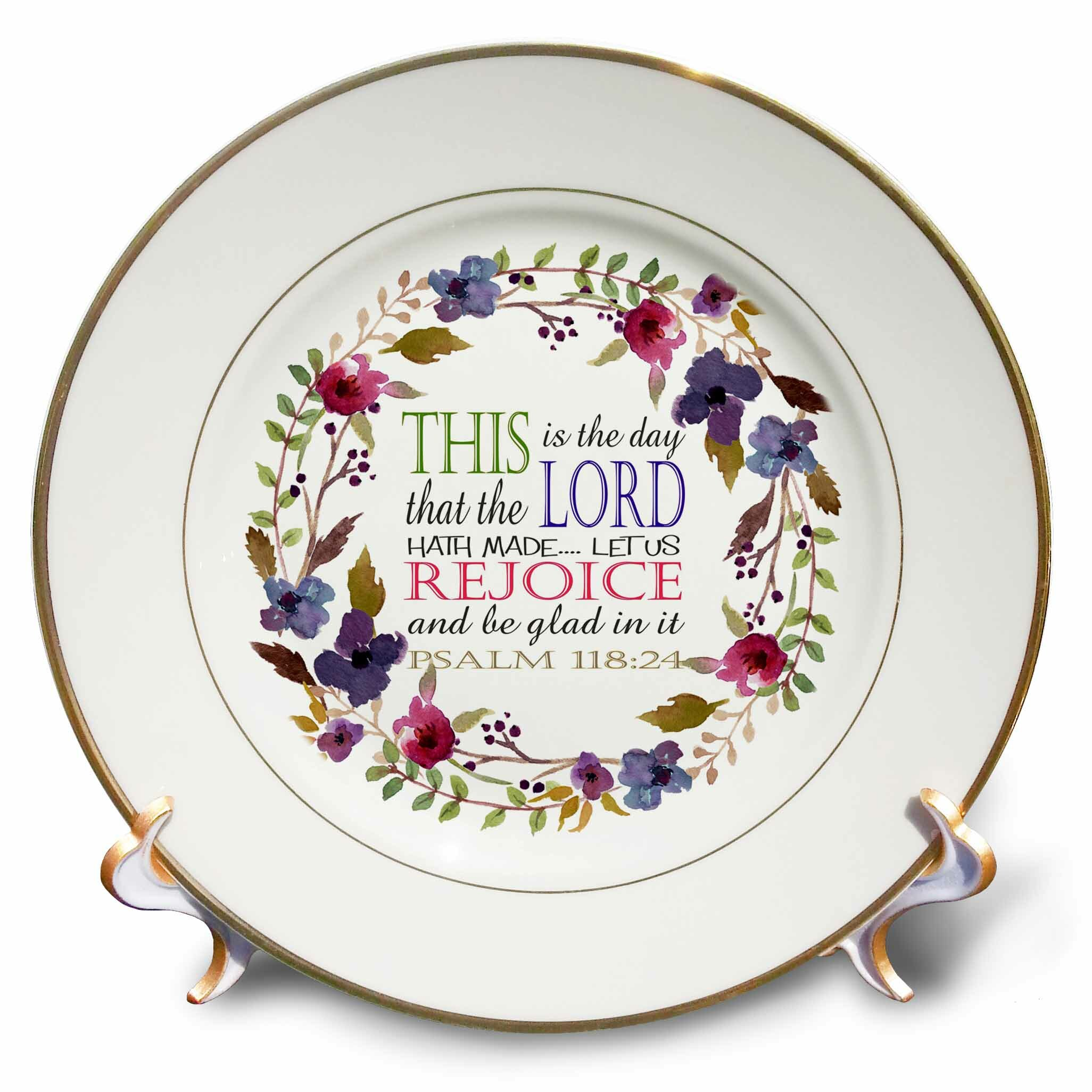 The Day the Lord Has Made Psalm 8 Porcelain Decorative Plate