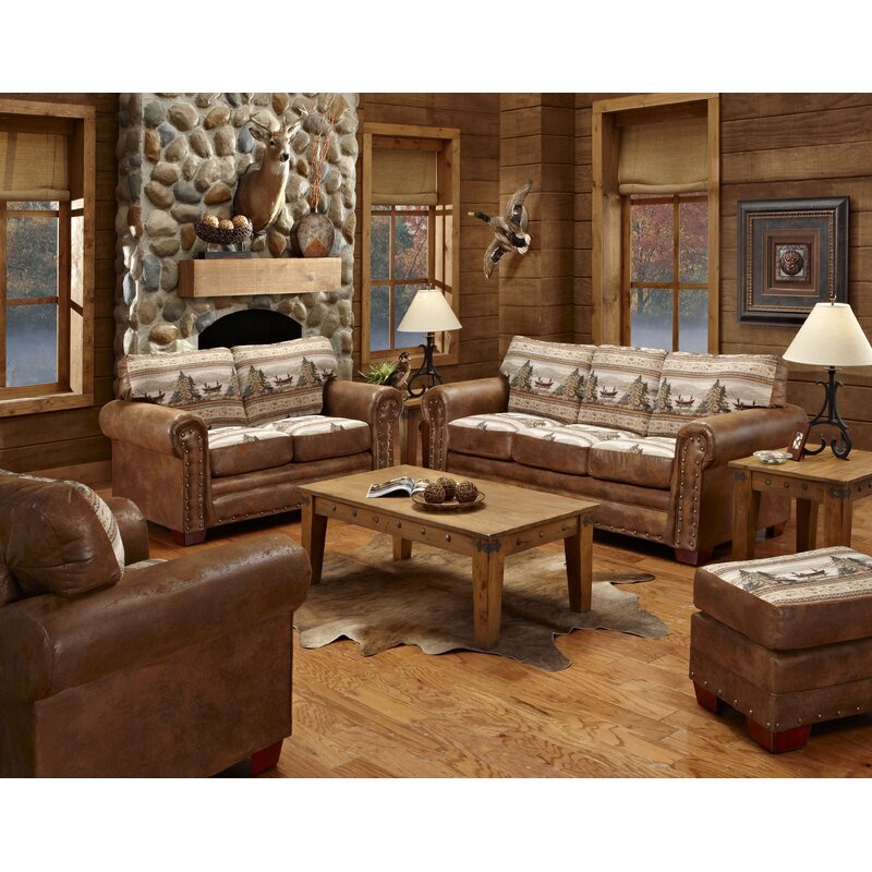Charlie Alpine Sleeper Lodge 4 Piece Living Room Set