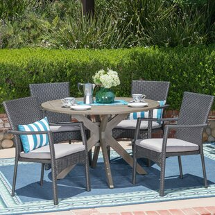 Towler 5 Piece Dining Set with Cushions b..
