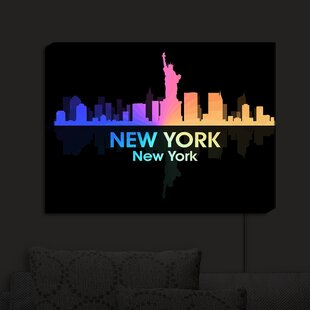 East Urban Home City V New York New York' Print on Fabric