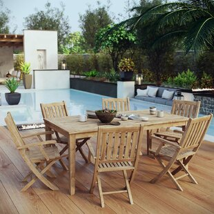 Christian 7 Piece Teak Dining Set by Rosecliff Heights