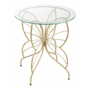 Wind & Weather Glass/Metal Butterfly Bistro Table