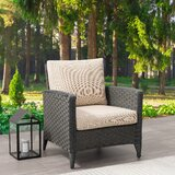 Adelaida Patio Chair with Cushions by Highland Dunes