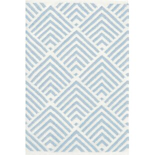 Cleo Blue & White Graphic Indoor/Outdoor Area Rug byBunny Williams for Dash and Albert