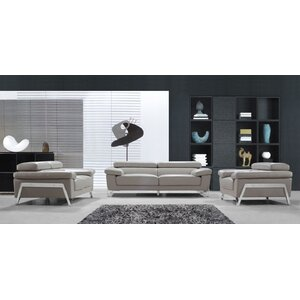 Corelle 3 Piece Leather Living Room Set