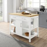 Kutztown Kitchen Island with Manufactured Wood Top by Ebern Designs