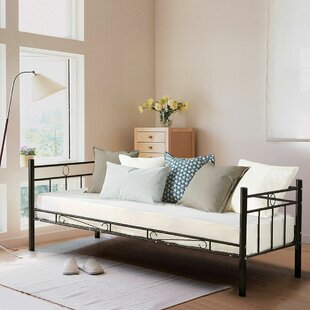 Compare prices Brigg Metal Sofa Twin Daybed by Fleur De Lis Living Reviews (2019) & Buyer's Guide