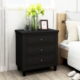 Reedsville Heavy Solid Wood 3 Drawer Nightstand by Gracie Oaks