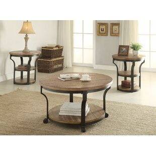Gracie Oaks Milaca 3 Piece Coffee Table Set