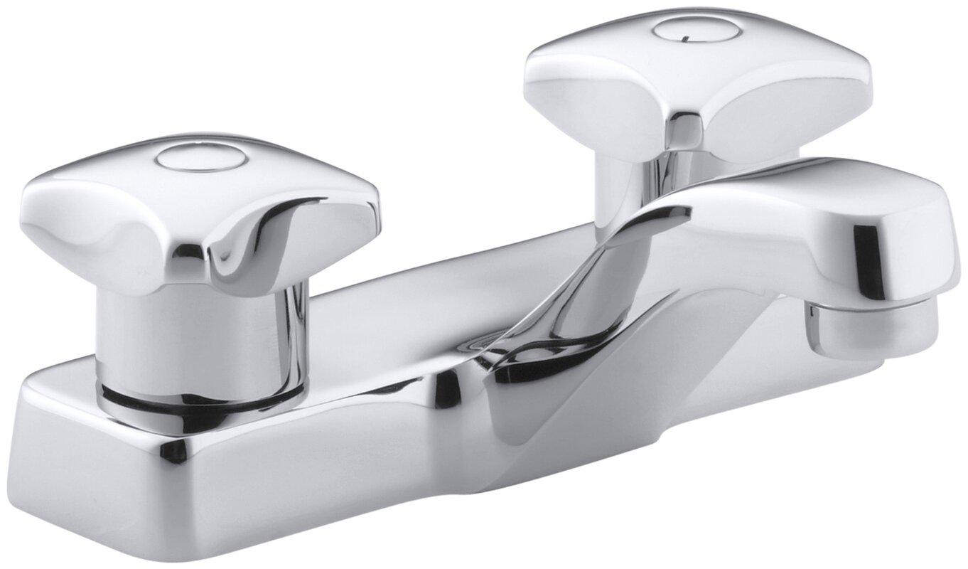 K-7404-2A-CP Kohler Triton Centerset Commercial Bathroom Sink Faucet ...