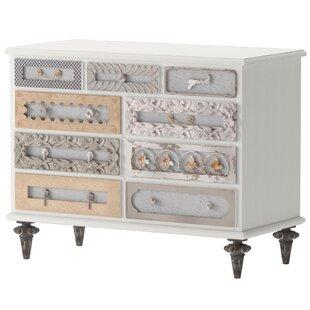Maelle Mirror Mosaic 9 Drawer Dresser by One Allium Way