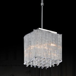 Elsa 3-Light Square/Rectangle Pendant by CWI Lighting