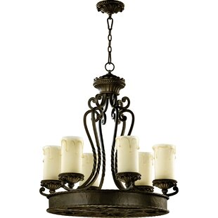 Alameda 6-Light Shaded Chandelier by Quorum