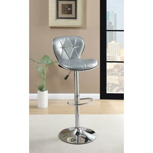 Shoemaker Polyurethane Adjustable Height Swivel Bar Stool (Set of 2)