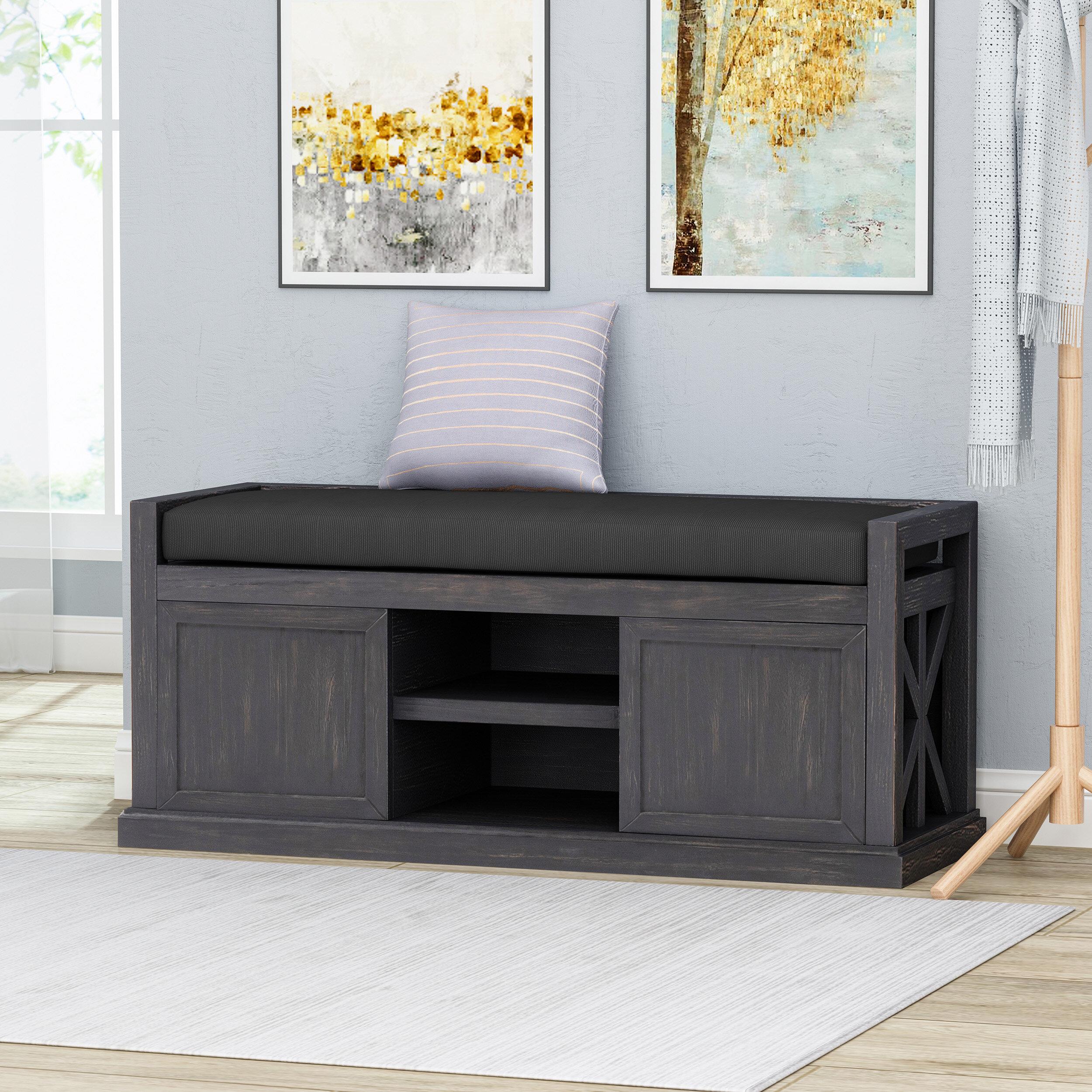 Marvelous Oyola Wood Storage Bench Short Links Chair Design For Home Short Linksinfo