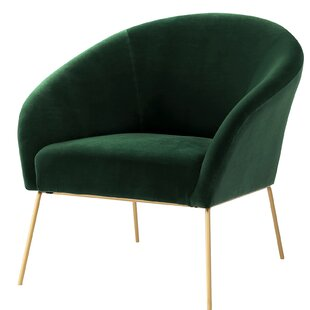 Achilles Velvet Barrel Chair by Nicole Miller