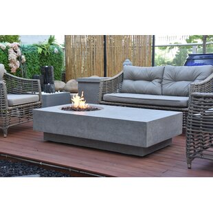 Metroplis Concrete Propane/Natural Gas Fire Pit Table