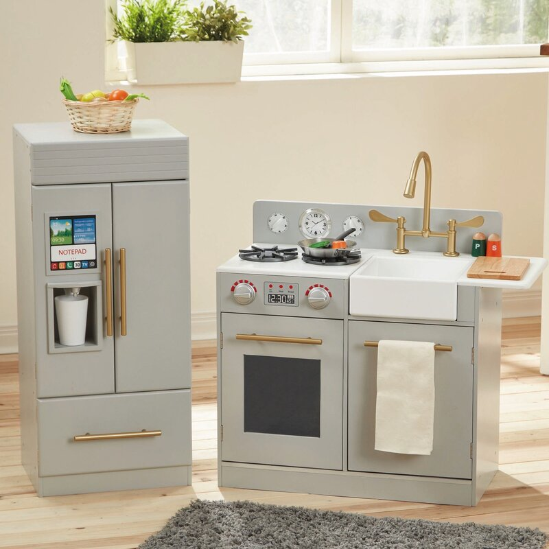 Entertainment Center Kitchen Set: Teamson Kids 2 Piece Urban Adventure Play Kitchen Set