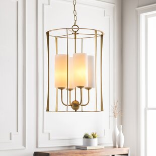Mercer41 Avoca Transitional 4-Light Lantern Chandelier