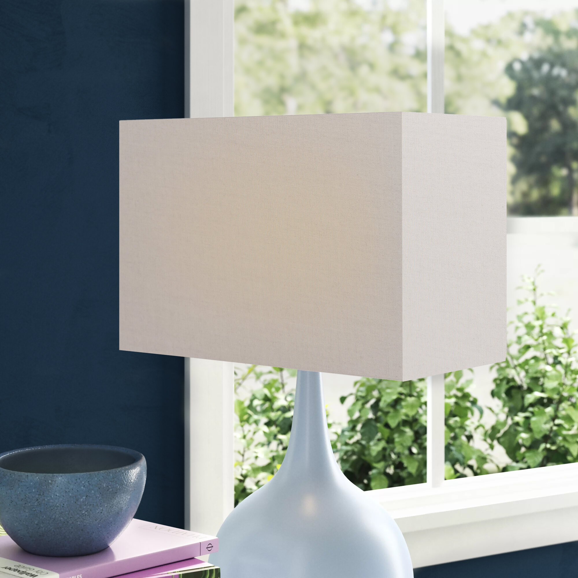 Picture of: Wayfair Basics Cotton Rectangle Lamp Shade Reviews Wayfair Co Uk