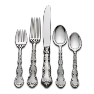 Sterling Silver Strasbourg 46 Piece Flatware Set, Service for 8