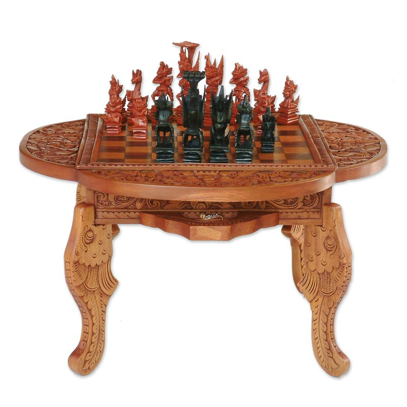 Hand Carved Wood Chess Set