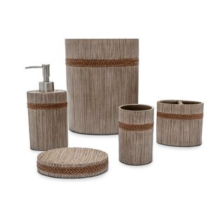 Michael Amini Michael Amini Carly 5 Piece Bathroom Accessory Set