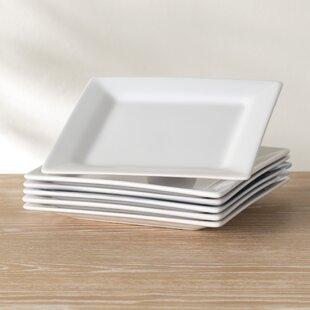Wayfair Basics 11  Square Dinner Plate (Set of 6) & Dinner Plates Set Of 6   Wayfair