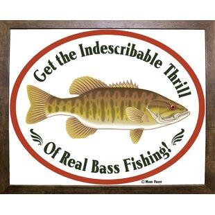 Thrill Of B Fishing Graphic Art Print
