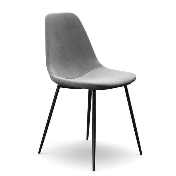 Surprising Modern Contemporary Grey Velvet Dining Chair Allmodern Ibusinesslaw Wood Chair Design Ideas Ibusinesslaworg