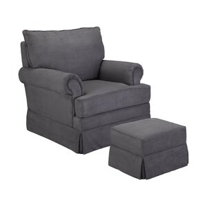 Grand Royale Swivel Glider and Ottoman