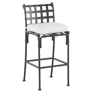 One Allium Way Aikens Patio Bar Stool with Cushion