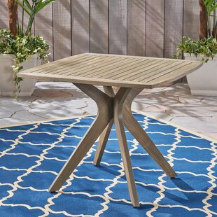 Places to buy  Mcateer Acacia Wood Dining Table Look & reviews