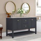 Binne Open Cabinet 60 Double Bathroom Vanity Set by Three Posts™