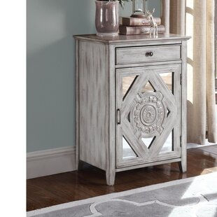 Wilkinson Wooden 1 Door Accent Cabinet by Ophelia & Co.