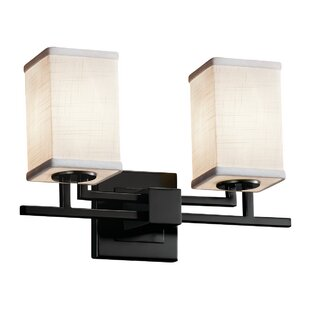 Latitude Run Red Hook 2 Light LED Square w/ Flat Rim Vanity Light