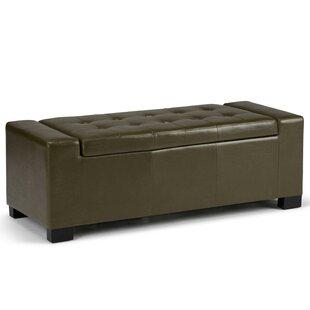 Simpli Home Laredo Upholstered Storage Ottoman