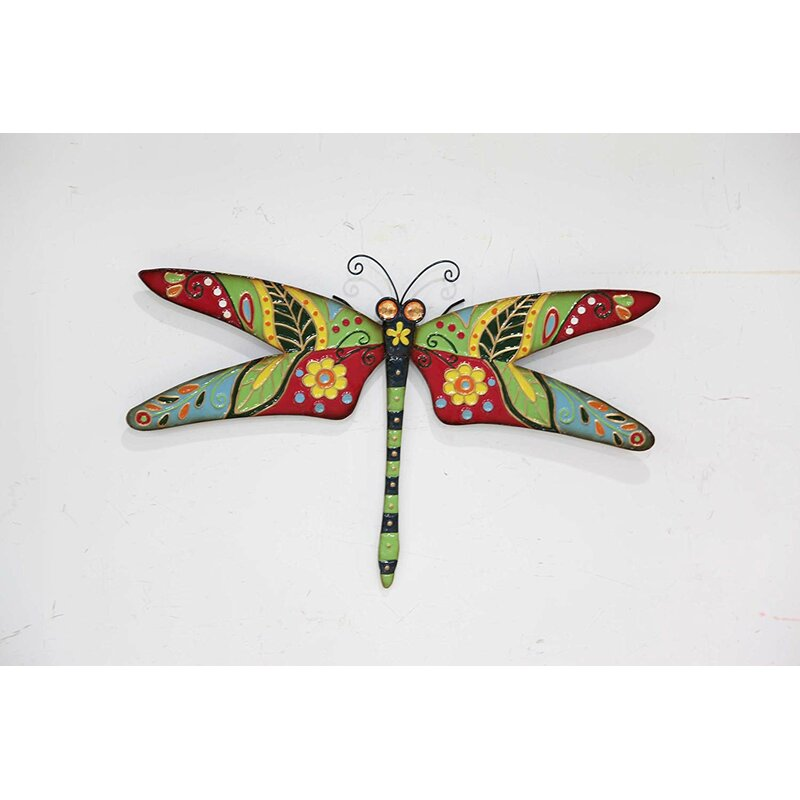 Rosalind Wheeler Larissa Dragonfly Outdoor Wall Art Reviews Wayfair