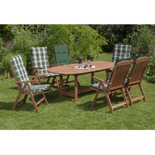 Colletti 6 Seater Dining Set With Cushions By Sol 72 Outdoor