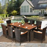 Hilario 9 Piece Dining Set (Set of 9)