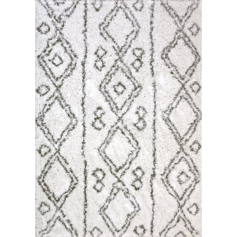 Wrought Studio Tryon Whitesilver Area Rug Reviews Wayfair