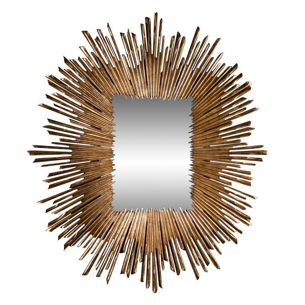Global Views Soleil Industrial Beveled Distressed Accent Mirror Perigold