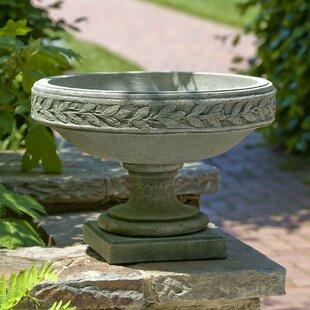 Cardine Laurel Banded Cast Stone Urn Planter