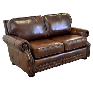 Middleton Genuine Top Grain Leather Loveseat by Westland and Birch