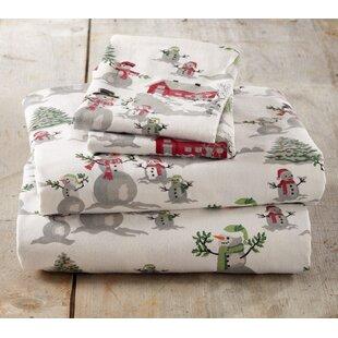 Colleton Winter Wonderland Super Soft Printed Flannel Cotton Sheet Set