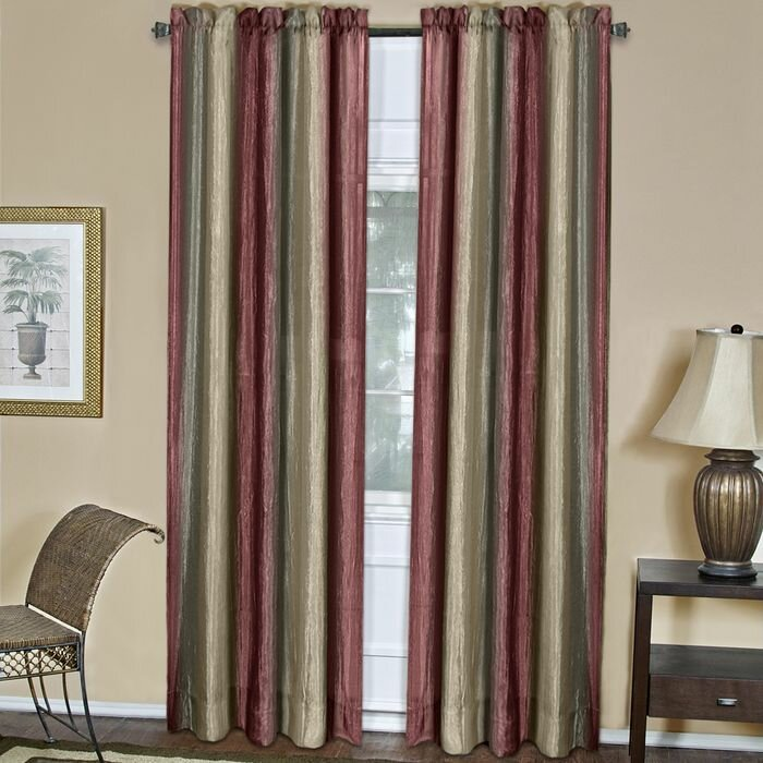 Fleur De Lis Living Aldreda Graphic Print Text Semi Sheer Rod Pocket Single Curtain Panel Reviews Wayfair