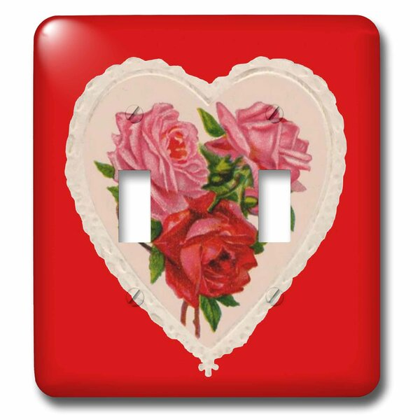 3drose Heart With Roses 2 Gang Toggle Light Switch Wall Plate Wayfair