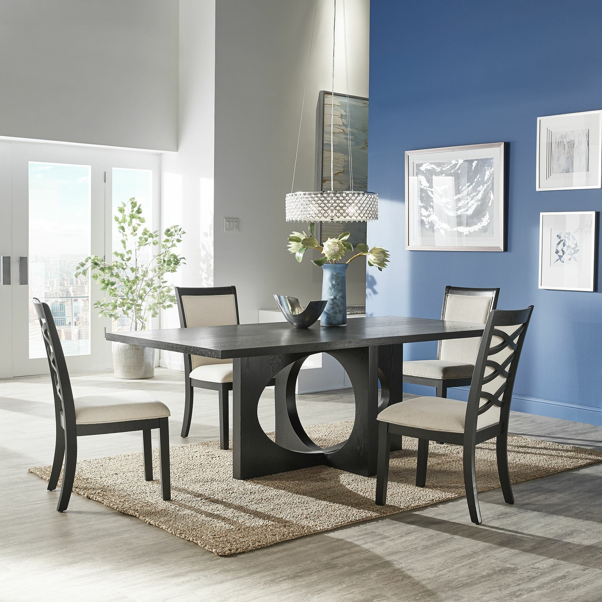 Wrought Studio Orson 5 Piece Dining Table Set Reviews Wayfair