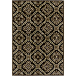 Ridgway Napoli Black/Green Indoor/Outdoor Area Rug